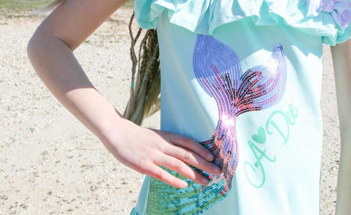 zeemeermin jurk, meisjesjurk