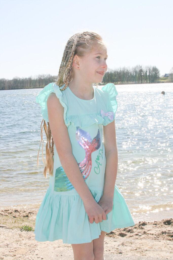 zeemeermin jurk, meisjesjurkje