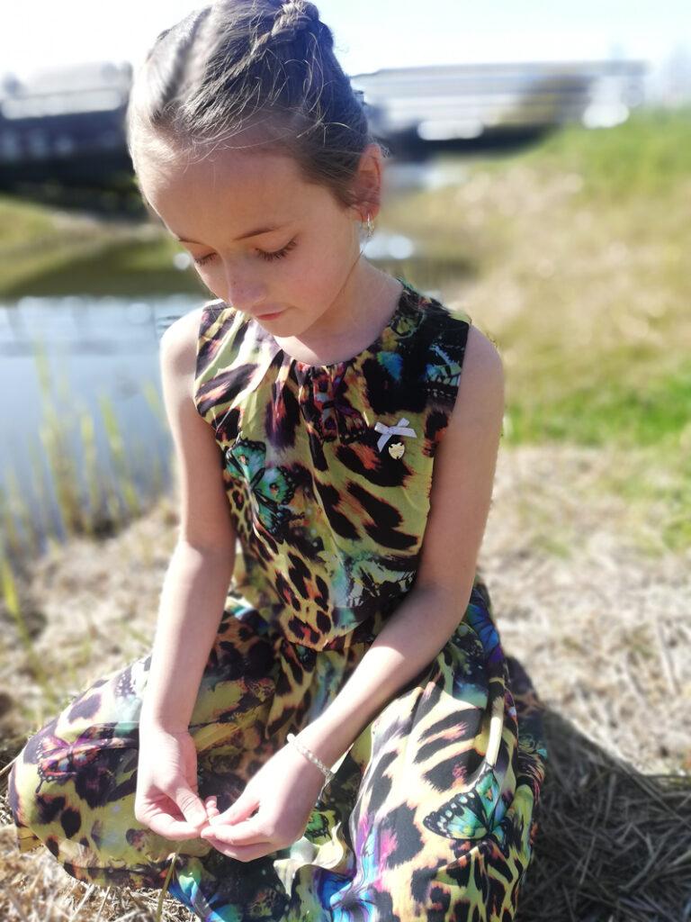 jurk met vlinders, vlinderprint jurk
