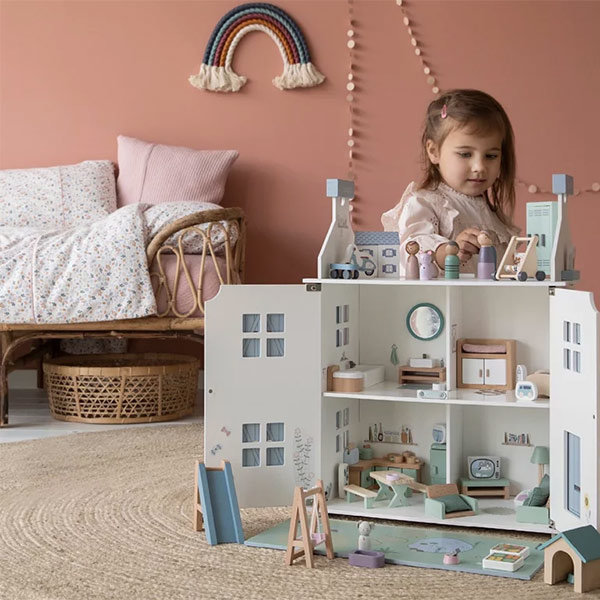 little dutch poppenhuis, poppenhuizen, meisjesspeelgoed, meisjes cadeau, poppenhuis, groot poppenhuis, houten poppenhuis
