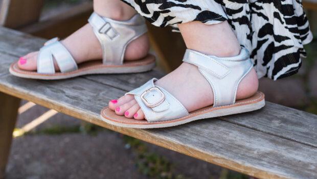 shoesme sandalen, meisjes sandalen, zilveren sandalen