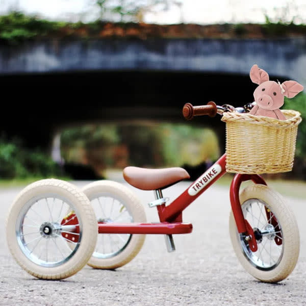 trybike, trybike loopfiets, rode loopfiets, loopfiets mandje fietsmandje, zomerspeelgoed