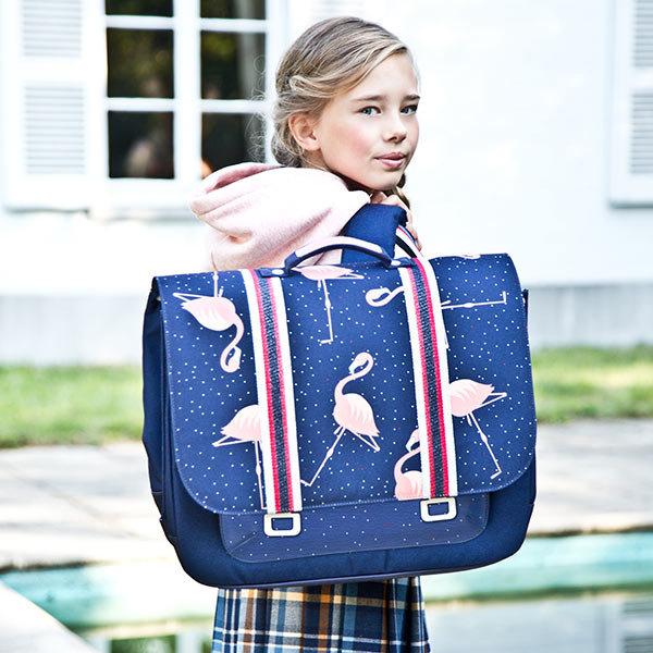 flamingo tas, flamingo boekentas, schooltas meisje , meisjestassen