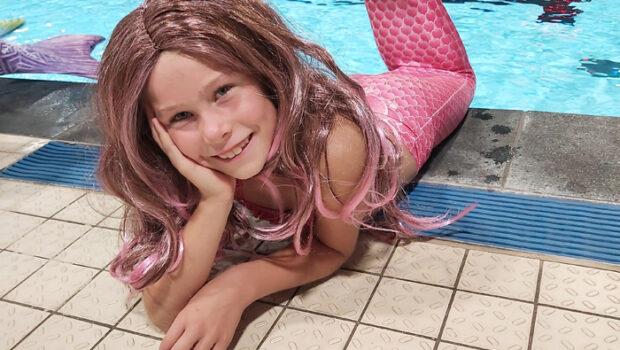 zeemeermin feestje, zeemeerminzwemmen