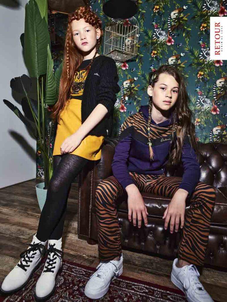 trendy meisjeskleding, teenfashion, tienerkleding meisjes, hippe prints, meisjeskleding met hippe prints, kinderkleding met hippe prints, meidencollectie van Retour Jeans