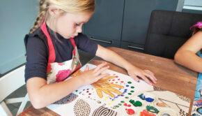 herfst schilderij, herfst schilderij knutselen, knutsel tips