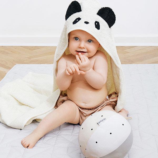 panda badcape, baby cadeautjes