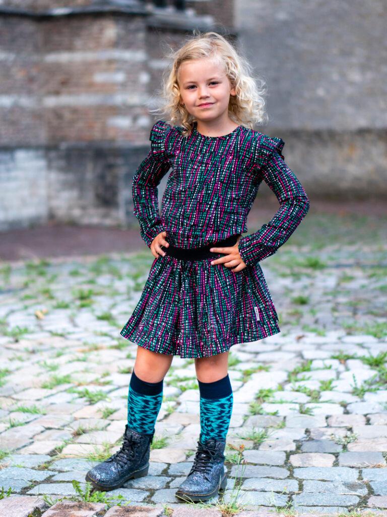 Outfit of the day meisjes, bnosy najaar 2020, bnosy jurkje
