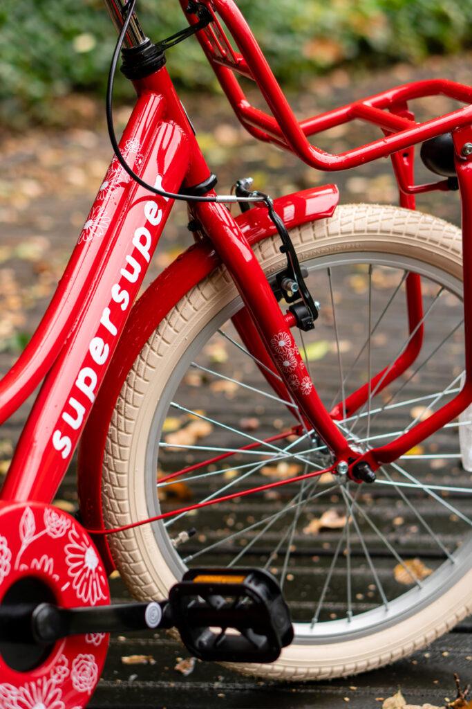 supersuper fiets, cooper rood, supersuper cooper rood