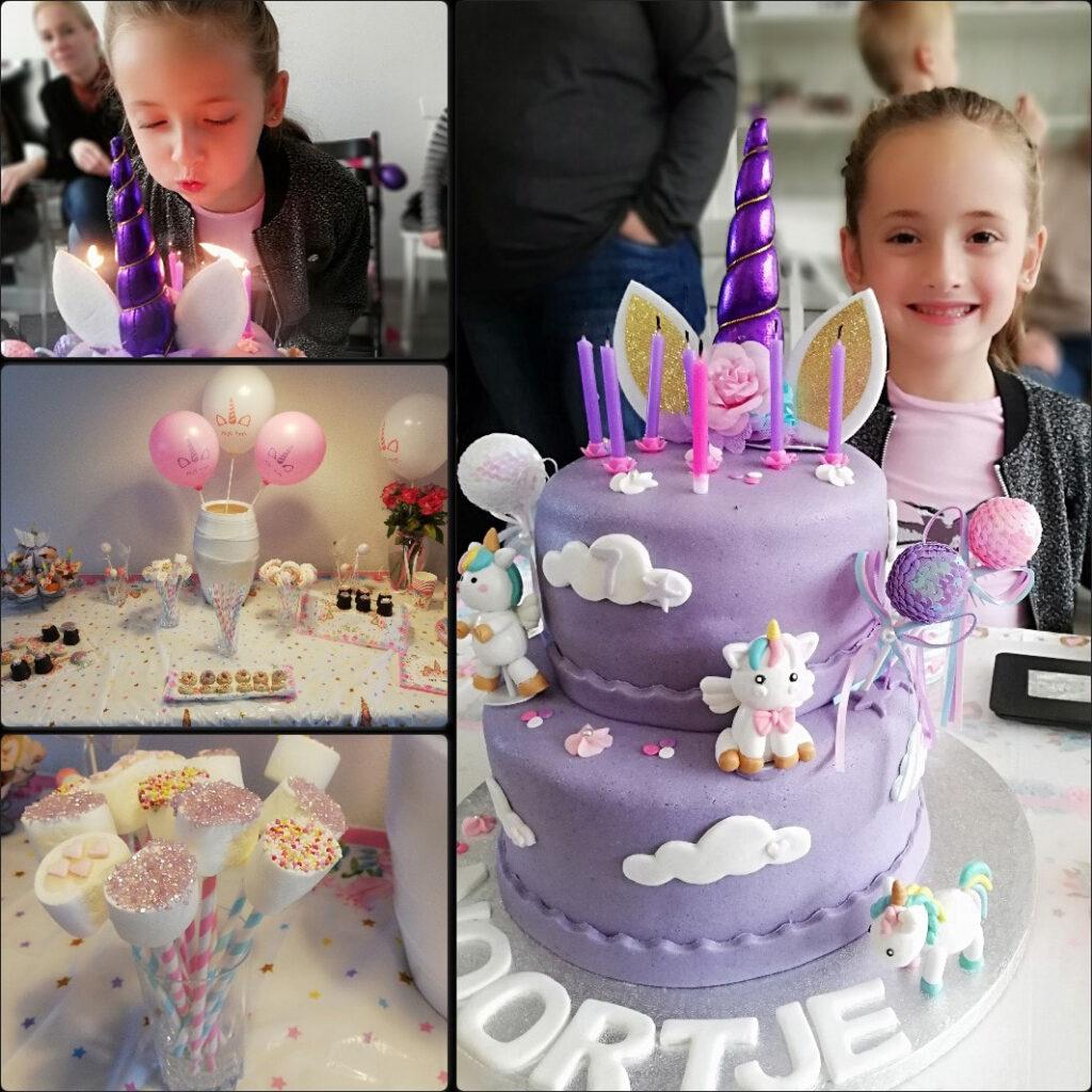 Verjaardag vieren in Corona tijd, verjaardag meisje 9 jaar, unicorn feestje