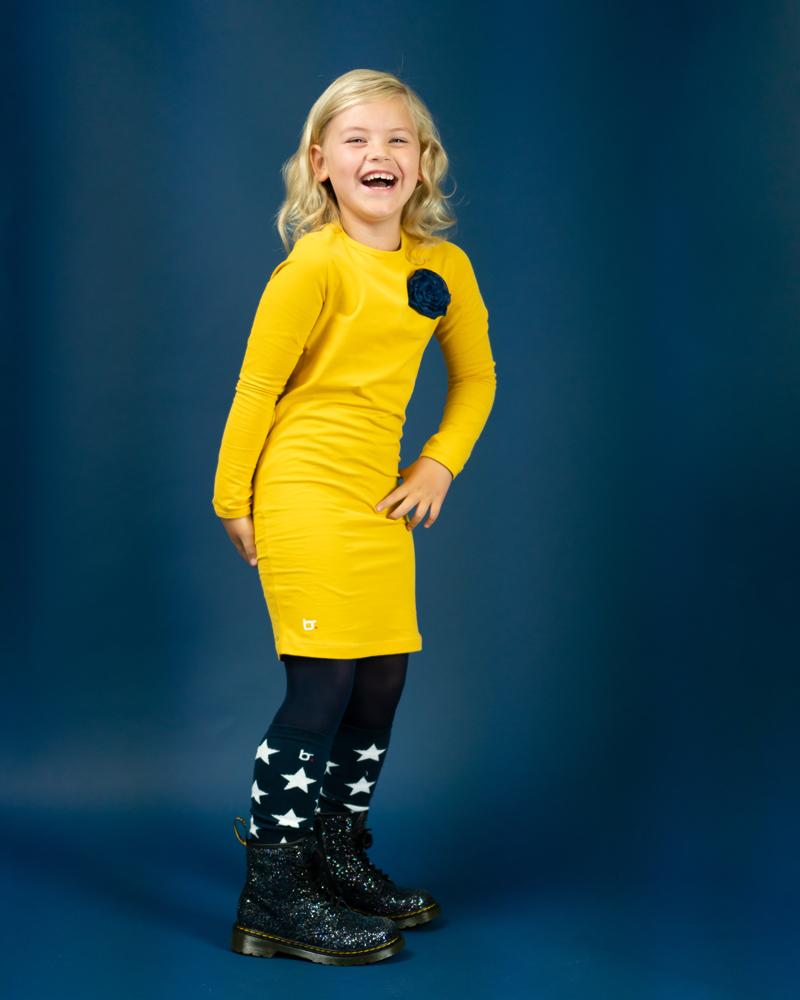 bobbi ravioli, geel jurkje meisje, bobbi ravioli review, meisjesjurk, kinderjurkjes