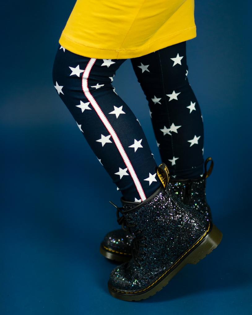 meisjeslegging met sterren, bobbi ravioli, meisjeskleding, meisjesmodeblog, girlslabel, meisjesmerkkleding