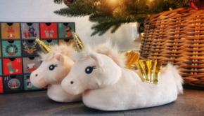 Unicorn pantoffels, Unicorn sloffen, nachtkleding voor meisjes