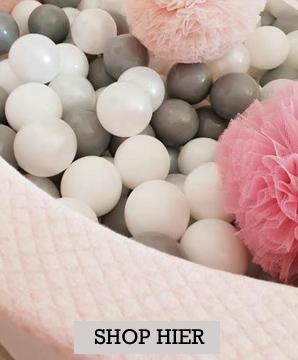 ballenbaden, ballenbad xl, roze ballenbad
