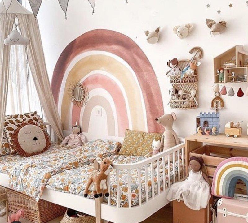 regenboogkamer, rainbow room, rainbow kamer, meisjeskamer, regenboog muursticker, rainbow sticker, lovt Amsterdam, rainbow walluticker, rainbow room, rainbow kidsroom