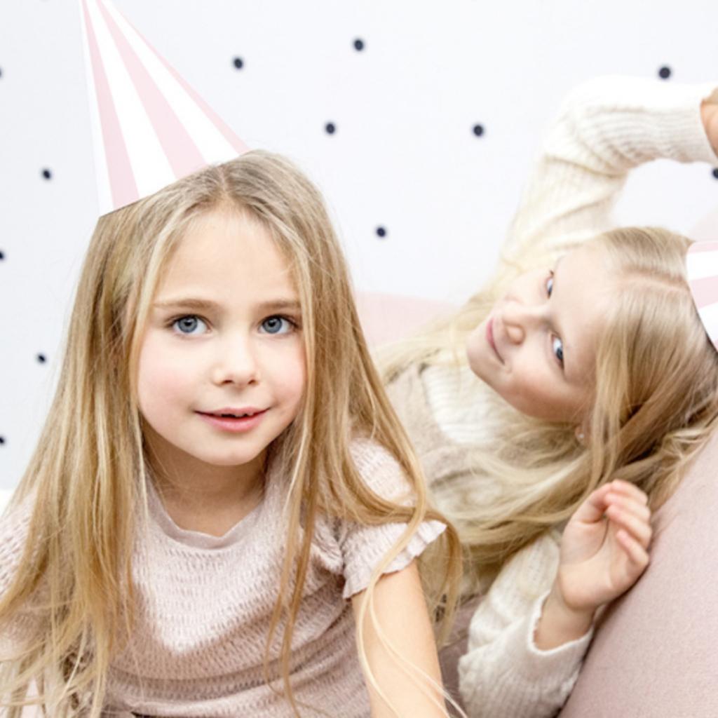 meidenfeest, kinderfeestje, meisjesfeestje, verjaardagsfeest meisje 6 jaar 7 jaar  en 8 jaar, hieppp, feesthoedjes