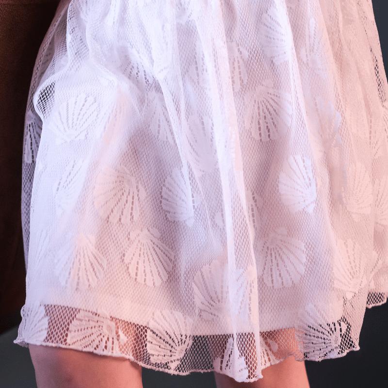 schelpen motief, le chic, le chic meisjeskleding, zomerjurkje