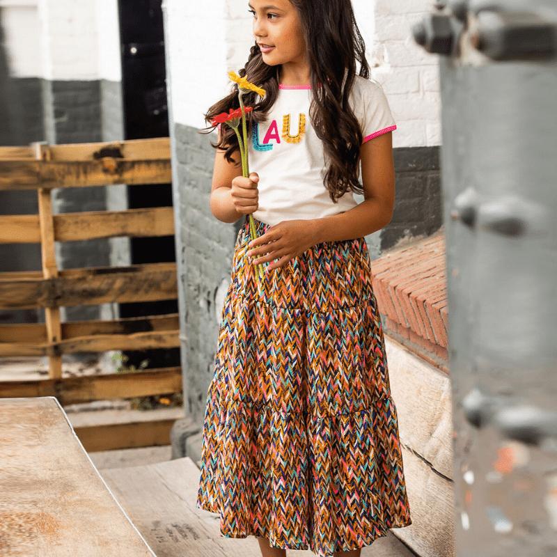 bnosy, bnosy rok, lange rok meisje, bnosy Y102-5740 , outfit of the day meisjes, hippe meisjeskleding, hippe meiden look
