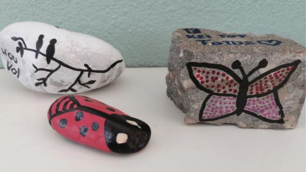 kei tof, kei toffe stenen, happy stoffen, stenen beschilderen