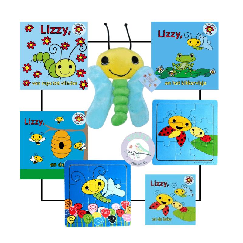 odiles giftshop, lizzy de vlinder, kinderboekjes over vlinder
