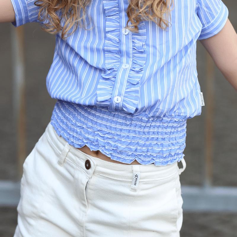 blouse jessy retour jeans, zomertrend 2021, blouse met pofmouwtjes