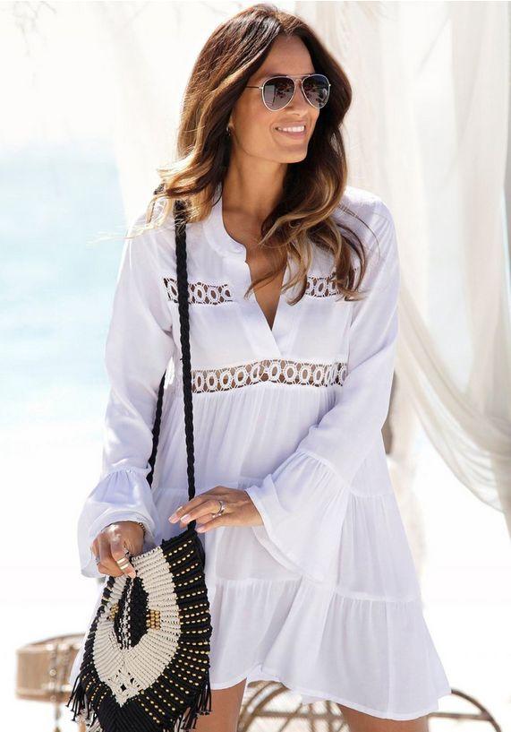 zomerkleding voor dames, zomerkleding, strandjurk, wit strandjurk, ibiza look strand jurkje, jurkje ibiza style, goedkoop ibiza jurkje