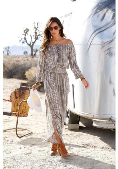 zomerkleding voor dames, zomerkleding, strandjurk, maxi dress, off shoulder maxidress, hippe maxidress, hippe lange jurk