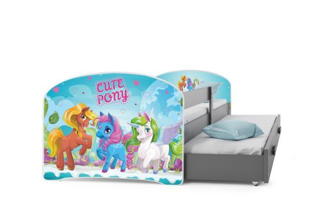 peuterbed, uitschuifblad, my little pony bed, paardenbed