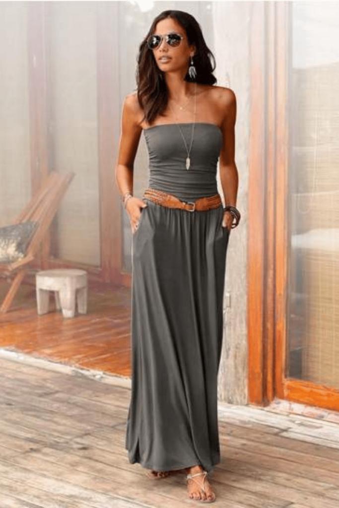 hoogzomer jurk, maxi