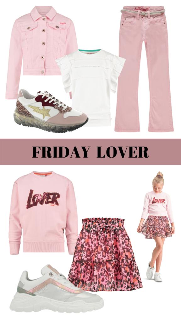 kleding inspiraties voor meisjes,  vrijdag outfit, vrijdag inspiratie, vrijdag kleding, stoere meidenkleding, fashion inspiratie, meisjeskleding roze, kleding meisje, roze meisjes kleding