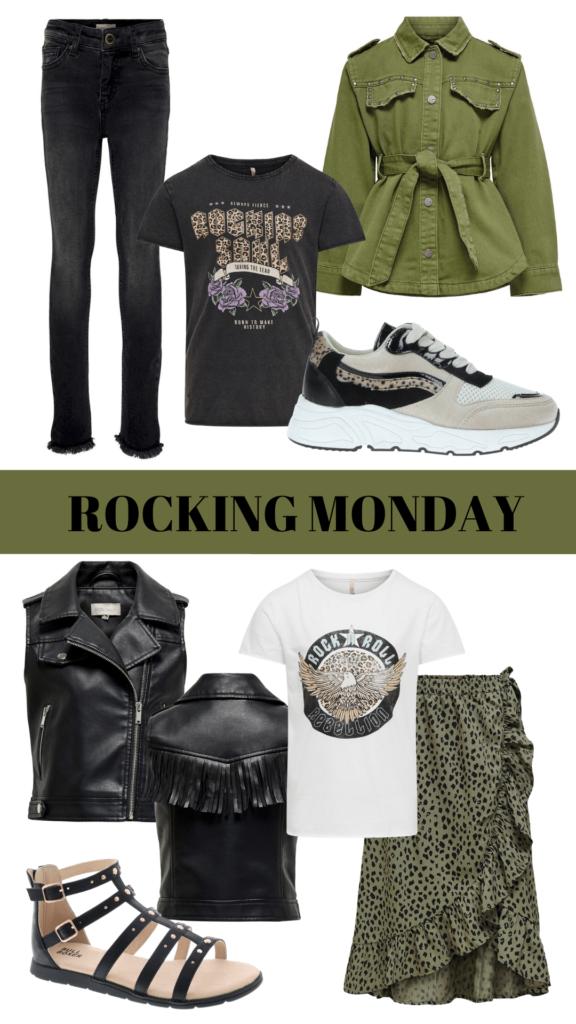 kleding inspiraties voor meisjes,  maandag outfit, maandag inspiratie, maandag kleding, stoere meidenkleding, fashion inspiratie, meisjeskleding groen, rock chick, rock kleding meisje, stoere meisjes kleding