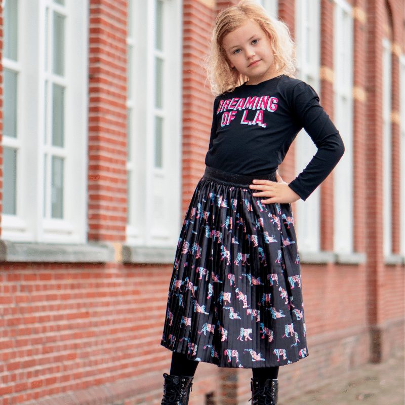 O'Chill winter 2021, nieuwe collectie O'Chill, meisjeskleding OChill, panterprint rok meisje, panterprint tshirt meisje