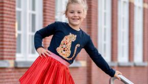 O'Chill winter 2021, nieuwe collectie O'Chill, meisjeskleding OChill, rode rok meisje, panterprint tshirt meisje