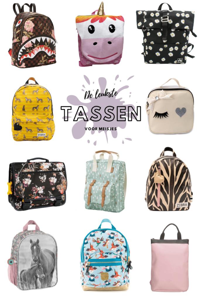 meisjestassen, leuke rugtassen voor meisjes, kindertassen, schooltas meisje,  kinderrugtas, zebra tas kind