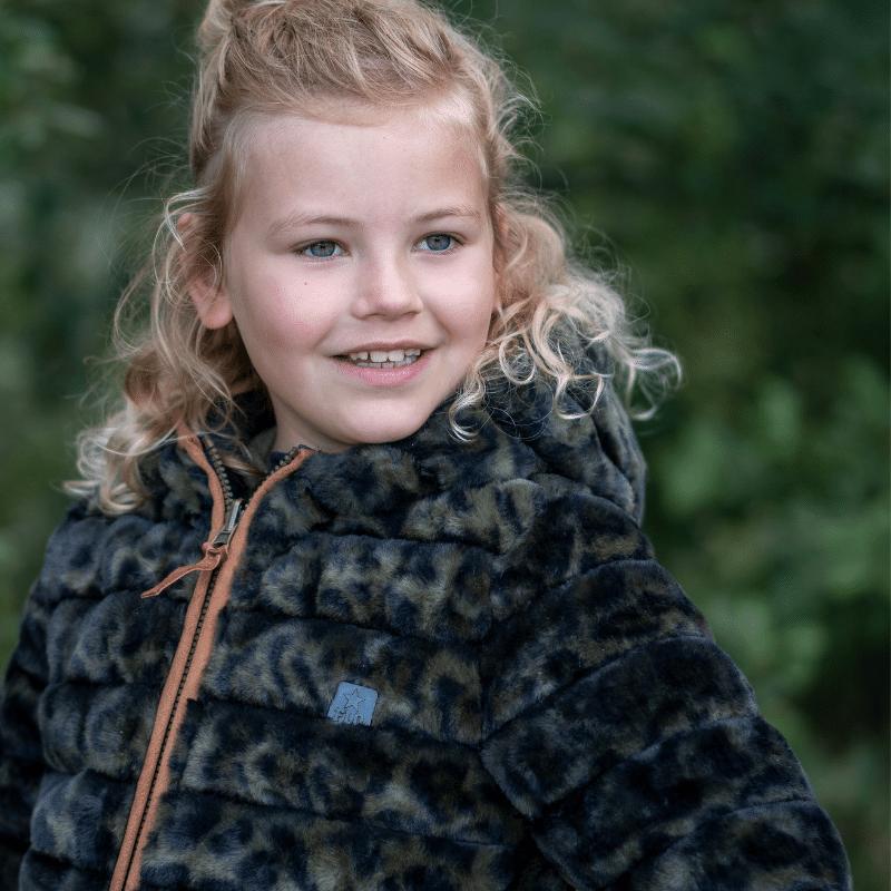 bontjas, fake fur jas, like flo winterjas, bontjassen voor meisjes , groene bontjas meisje, LIKE FLO MEISJES REVERSIBLE WINTERJAS F107-5202/355 GROEN