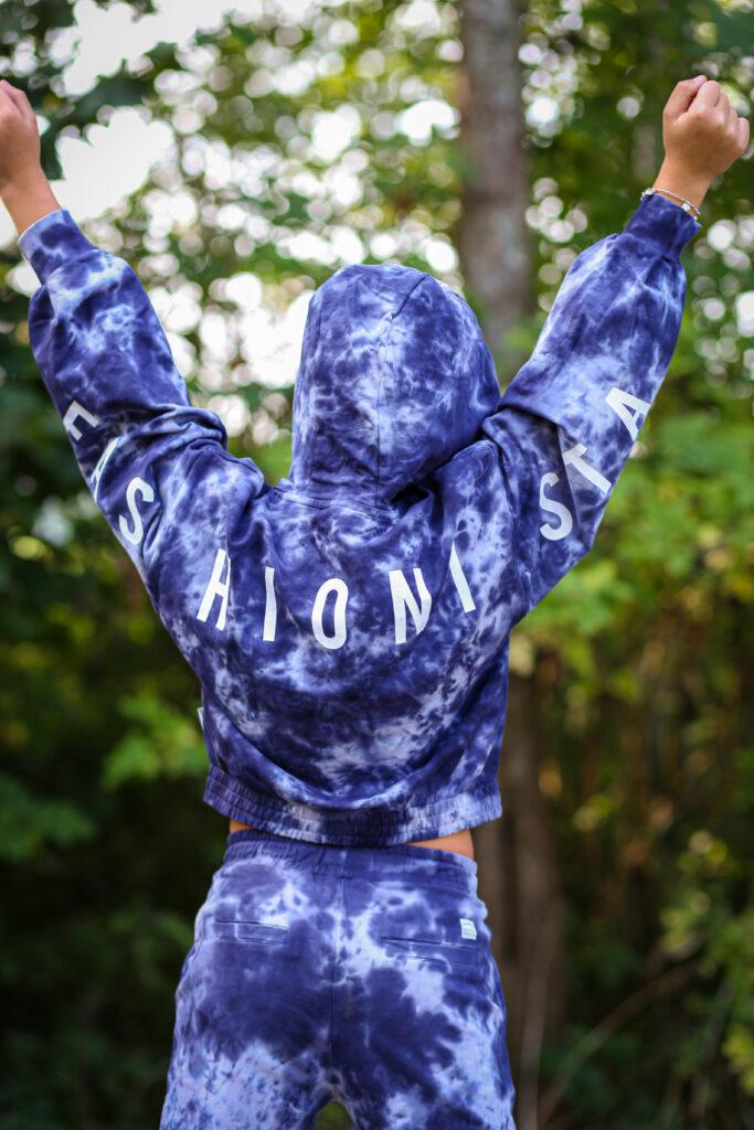 retour hoodie elly, RJG-13-705, blauwe hoodie, blauwe sweater meisje, blauwe hoodie meisje, blauwe sweatpants meisje, RJG-13-402, broek Berty retour Jeans