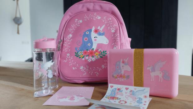 unicorn schoolset, unicorn rugzak, unicorn rugtas, unicorn broodtrommel, unicorn drinkbeker