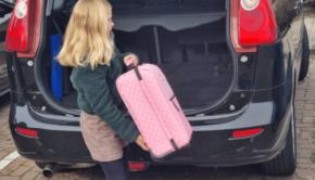 kinder koffer, kinder trolley